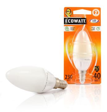 PIRN ECOWATT 4.7W E14 LED KÜÜN pilt