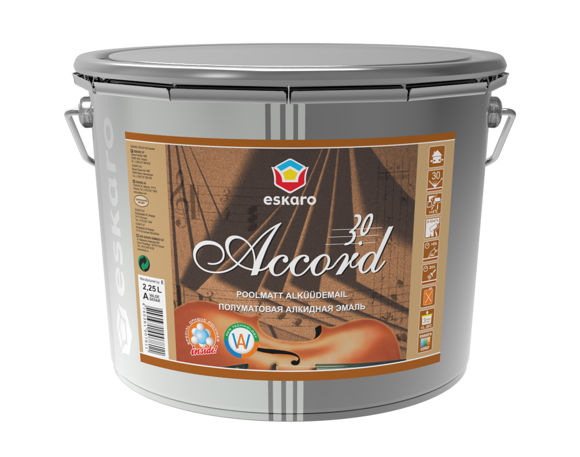 Изображение ACCORD 30 POOLMATT ALKÜÜDEMAILVÄRV 2,25L