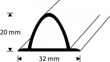 Picture of DUŠILIIST 125cm VALGE DIONE