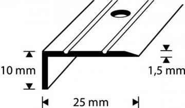 ASTMESERVALIIST D1-2.7M 25X10MM KULD pilt