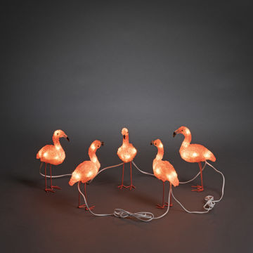 Picture of VALGUSTI 5 FLAMINGOS 40 LED