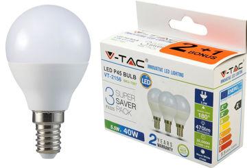 PIRN V-TAC 5,5W E14 LED (2+1) 2156 pilt
