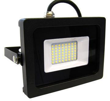 PROZEKTOR NOVIPRO LED 10W 700lm IP65 ÕHUKE, MUST pilt