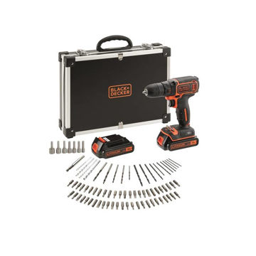 Picture of CORDLESS DRILL B+D BDCDC18BAFC 18V IN CASE + 80 ACCESSORIES
