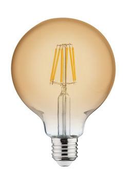 PIRN LED RUSTIC GLOBE 6W E27 2200K 125mm pilt