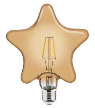 PIRN LED RUSTIC STAR 6W E27 2200K pilt