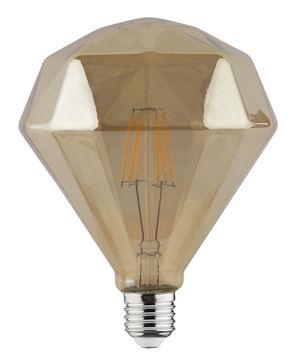 PIRN LED RUSTIC DIAMOND 6W E27 2200K 120mm pilt