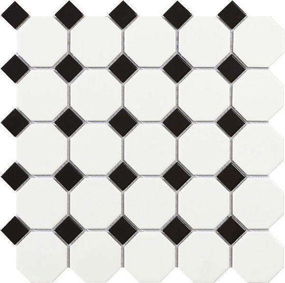 Picture of MOSAIIK 29.5X29.5 TECH OCTAGON WHITE MATT