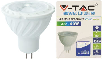 PIRN VT-SAMSUNG 257 GU5,3 6,5W LED 110` 450lm 12V pilt
