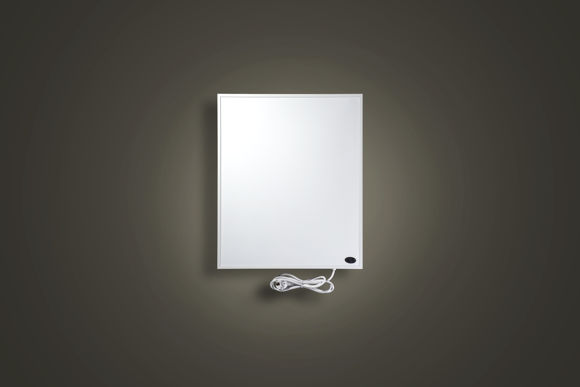 Picture of FAR INFRARED HEATING PANEL P-130 50X40X1CM FOR WALL MOUNTING WITH MAIN PLUG, WHITE