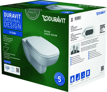 Picture of WC POTT DURAVIT D-CODE RIMLESS +ISTE V.SULGUV
