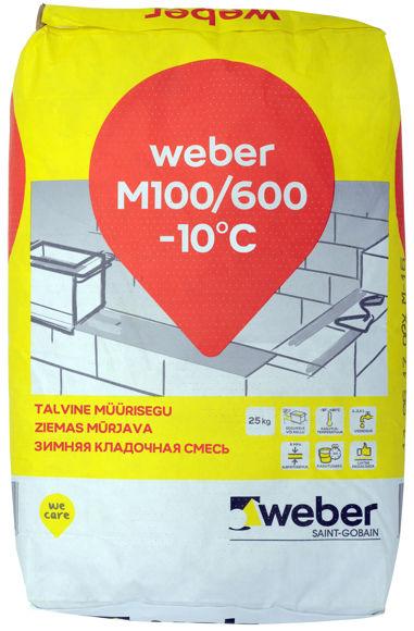 MÜÜRISEGU WEBER M100/600 25kg TALVINE pilt