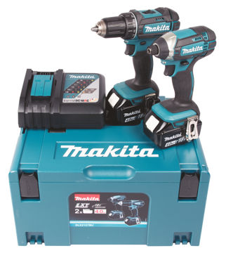 Picture of COMBOKIT MAKITA DLX2127MJ(DDF482+DTD152)  2x4.0Ah