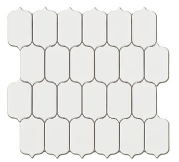 Picture of MOSAIIK 25.92X26.7 TECH LATERN WHITE GLOSSY