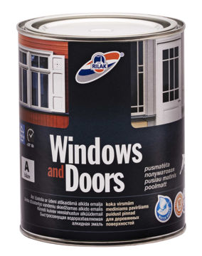 Изображение AKNAVÄRV RILAK WINDOWS & DOORS A 0,9L POOLMATT