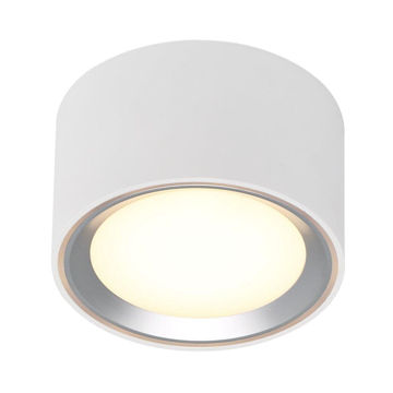 Picture of CEILING LAMP FALLON 6cm 8,5W/827 LED 4-STEP WHITE/BRUSHED STEEL 500lm