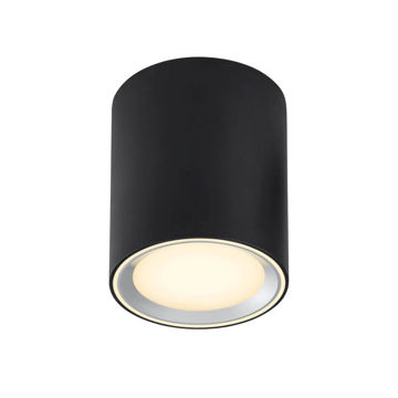 Picture of CEILING LAMP FALLON 12cm 8,5W/827 LED 4-STEP BLACK 500lm