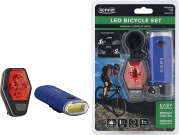 Picture of BICYCLE FLASHLIGHT KENNER BS-15 LED FRONT AND BACK LIGHT