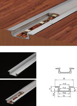 Изображение PROFIIL LED VALGUSRIBALE 22X6X2000MM ALUMIINIUM+PC
