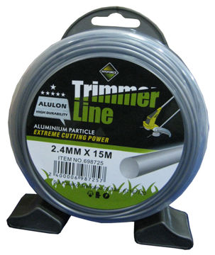 TRIMMERIJÕHV TRIMMER LINE ALULON  2,4MMX15M  pilt
