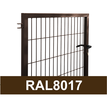 Picture of GATE DOOR SQUARE PROFILE W1M RAL8017 H1.5 W1.0M