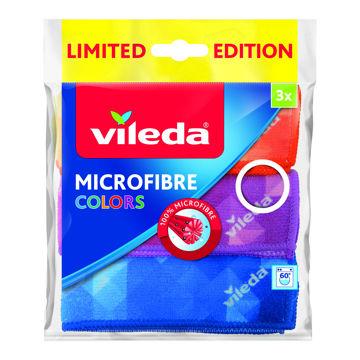 Picture of MICROFIBRE CLOTH VILEDA COLORS 3PCS