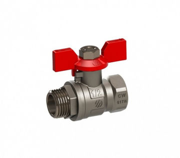 """Picture of BALL VALVE ¾"""" MF BUTTERFLY HANDLE"""
