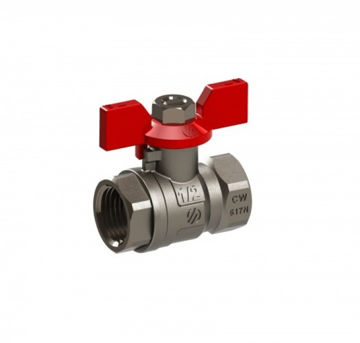 """Picture of BALL VALVE ½"""" FF BUTTERFLY HANDLE"""