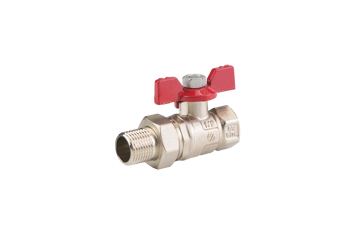 """Picture of BALL VALVE ¾"""" MF WITH UNION COUPLER BUTTERFLY HANDLE"""