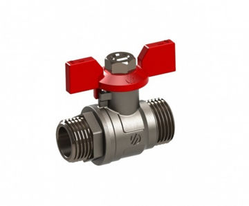 """Picture of BALL VALVE ¾"""" MM BUTTERFLY HANDLE"""