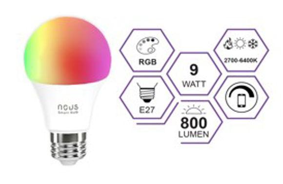 Изображение ЛАМПОЧКА LEDVANCE SMART 9W E27 LED WI-FI CLA60  RGBW