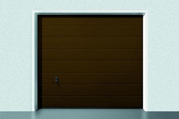 Picture of GARAGE DOOR RENOMATIC WOODGRAIN 2500x2125mm RAL 8028